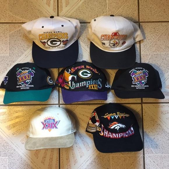 187559ae1 90s Vintage Super Bowl Hat Lot. M 5b577ea96a0bb72c8ae87a86